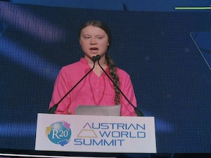 © W. J.Pucher - oekonews /  Greta Thunberg beim R20 Austrian World Summit